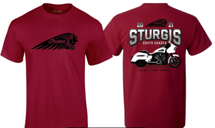 Indian Motorcycle Sturgis 2021 Challenger Tee- Red