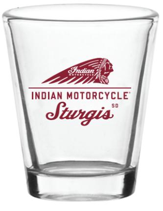 Indian Motorcycle Sturgis Shot Glass-1oz