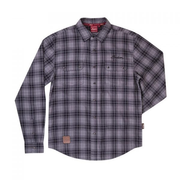 Gray Black Plaid Shirt Men's