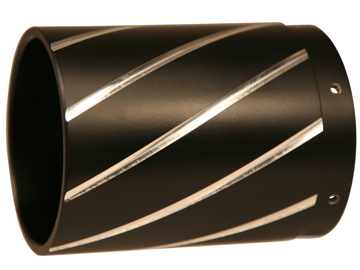 CONTRAST CUT EXTENDED END CAPS BY RUSH RACING PRODUCTS FOR 4 INCH MUFFLER 4027B
