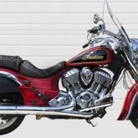 Samson Slip-On Chrome Mufflers with chrome Samson end caps for Indian Chief series IN-159